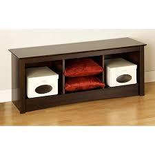 edenvale cubbie bench espresso prepac furniture walmart com