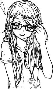 awesome anime art glasses coloring page mcoloring