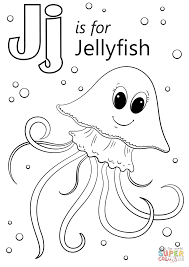 free coloring pages jellyfish jellyfish coloring page letter j is for free printable