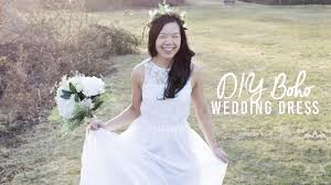 Boho Wedding Dresses Diy Boho Wedding Dress Under 50 Youtube