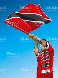Flag For Trinidad And Tobago Trinidad And Tobago Waving Flag Soccer Fan Stock Vector Art