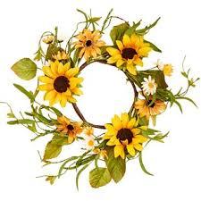 sunflower wreath monogram door wreath wayfair