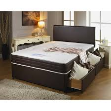 Divan Bed Set Leather Divan Bed Set With 2 Drawers Free Headboard