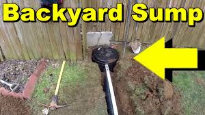 backyard sump pump water collection youtube
