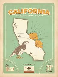 Los Angeles Map Poster by Online Get Cheap California Travel Poster Aliexpress Com