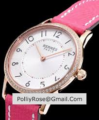 diamond studded designer replica hermes clipper with diamond studded pink