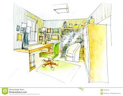 study room floor plan outline of a study room in color stock illustration image 56799151