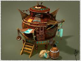 Yurt House Fantasy House Yurt By Fallonclarke Link Tutorial Here Http