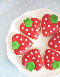 decorated cookies diy strawberry shaped decorated cookies party ideas party printables