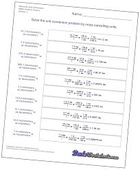 metric unit worksheet worksheets