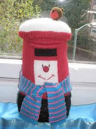 knitted christmas thoughts from the stop knitted christmas post box