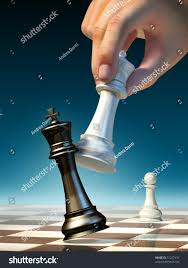 white queen moves win chess game stock illustration 51227431