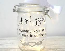 Baby Remembrance Gifts Memory Jar Light Jar With White Feathers Remembrance Jar