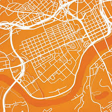 Tennessee City Map by University Of Tennessee Campus Map Art City Prints