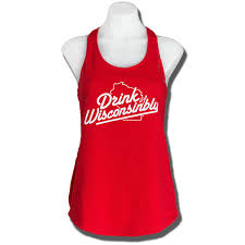 drink wisconsinbly ladies tank red university book store