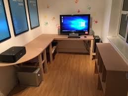 Craft Table Desk 50 Craft Table Computer Desk Cheap Shelves 4 Steps With