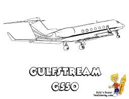 gulfstream g550 air plane coloring yescoloring www