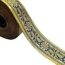 metallic gold ribbon metallic gold ribbon trim sari border jacquard ribbon 4 0 cm wide by