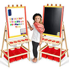 magnetic easel for toddlers amazon com kids easel with paper roll free kids art supplies