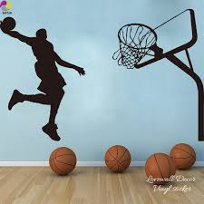 sport en chambre x joueur de basket dunk wall sticker enfants chambre 230 cm x 150