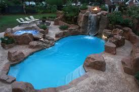 Waterfall Backyard Modern Waterfall Backyard Pool Ideas 2235 Hostelgarden Net