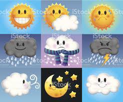 cartoon weather forecast icons stock vector art 158711968 istock
