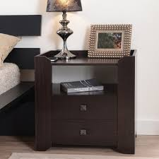 nightstands top simple nightstands dark wood collection ideas diy