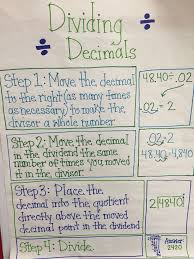 dividing decimals anchor chart decimals pinterest dividing