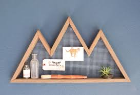 mountain wall shelf mountain home decor wall hanging
