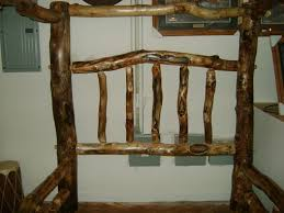 hand made gnarly aspen log canopy bed by ireland u0027s wood shop