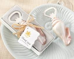 bottle opener wedding favors shore memories sea shell bottle opener wedding favors