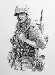 drawn soldiers world war 2 soldier pencil and in color drawn