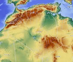 algeria physical map physical map of algeria
