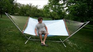 hamaca deck set xl reversible double hammock and stand set youtube