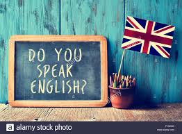 Pot Flag A Chalkboard With The Text Do You Speak English Written In It A