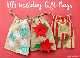 gift bags christmas diy gift bags for the holidays step by step crafts unleashed