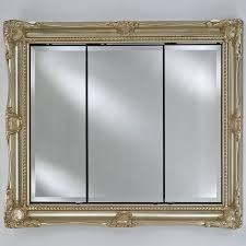 large recessed medicine cabinet afina vanderbilt medium triple door surface mount royale medicine