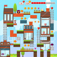 House Design Games Mobile by Video Game Interface Design Elements Mobile Game U2014 Stock Vector