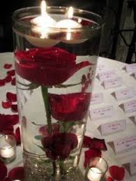 Red Rose Table Centerpieces by Lukas Wedding Red Rose Centerpiece With Floating Candle By