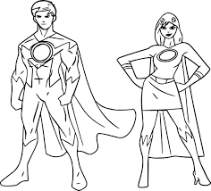powered superheroes super hero boy coloring page wecoloringpage