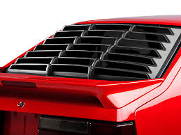 mustang rear louvers willpak mustang rear window louvers textured abs 1004 79 93