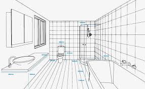 kitchen design bathroom measurements grey backgrpound standards