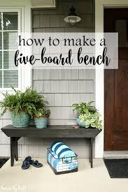 diy five board bench house by hoff