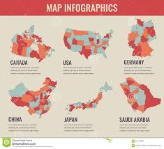 Canada Territories Map by Country Maps Infographic Template Usa Japan Canada China