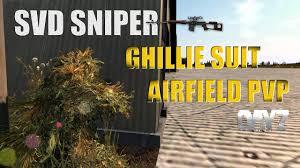dayz standalone svd sniper ghillie suit airfield pvp dayz tv