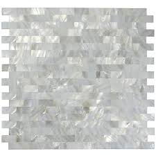 Images Of Kitchen Tile Backsplashes by White Mother Of Pearl Tile Shell Mosaic Tile Kitchen Backsplash