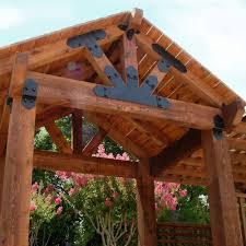 owt ornamental wood ties 13 1 2 in galvanized steel truss base fan