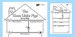 the three little pigs story map writing frame the three little