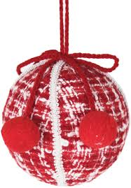 red and white knit ornament ball u2013 paul michael company