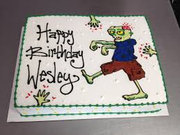halloween themed birthday cake the walking dead zombie themed birthday cake wild flour bakery